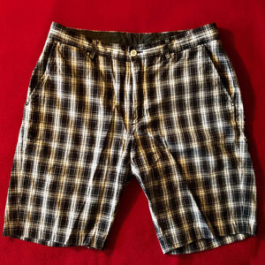 Polo by Ralph Lauren flat front plaid shorts